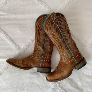 Ariat Brown and Turquoise Boots